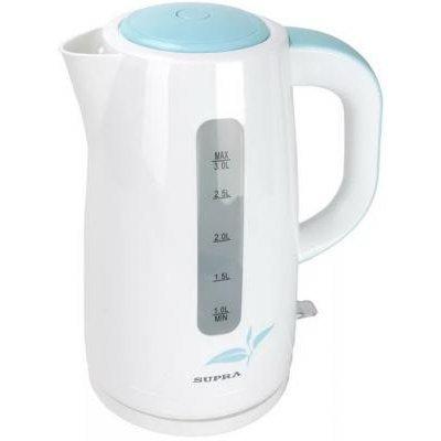 Электрический чайник Supra KES-3013 белый/голубой (10496) электрический чайник supra kes 2008 kes 2008