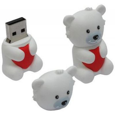 USB накопитель ICONIK RB-BEARW-16GB (RB-BEARW-16GB) usb flash drive 16gb iconik петух rb cock 16gb