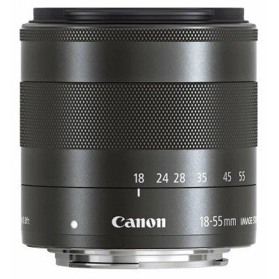 Объектив для фотоаппарата Canon EF-M STM (5984B005) 18-55мм f/3.5-5.6 черный (5984B005)