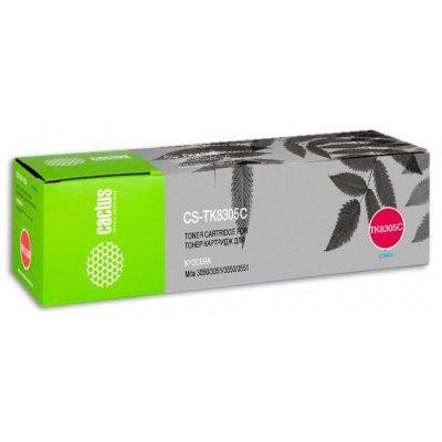 Тонер-картридж для лазерных аппаратов Cactus CS-TK8305C голубой для Kyocera Mita 3050/3051/3550/3551 (15000стр.) (CS-TK8305C) тонер картридж cactus cs ep22s