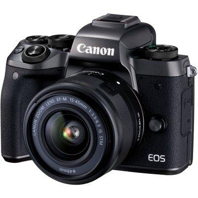Цифровая фотокамера Canon EOS M5 черный (1279C012) цифровая фотокамера canon eos 77d черный 1892c003