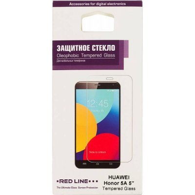 Пленка защитная для смартфонов Red line Huawei Honor 5A (Защитное стекло) (УТ000009304) сотовый телефон huawei honor 5a black