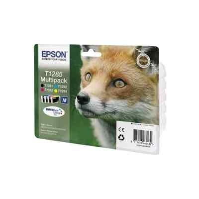 Картридж для струйных аппаратов Epson C13T12854012 черный/голубой/пурпурный/желтый набор карт. для Epson St S22/SX125/SX420W/Of BX305F (C13T12854012) принтер струйный epson l312