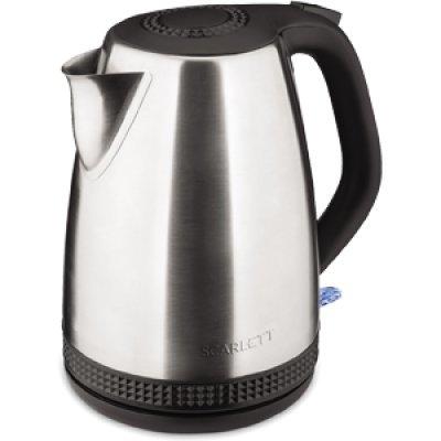 Электрический чайник Scarlett SC-EK21S46 серебристый/черный (SC - EK21S46) чайник электрический scarlett sc ek21s46 серебристый черный