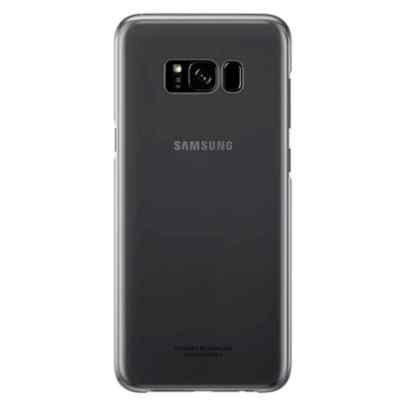 Чехол для смартфона Samsung Galaxy S8 черный/прозрачный (EF-QG950CBEGRU) (EF-QG950CBEGRU) чехол клип кейс samsung protective standing cover great для samsung galaxy note 8 темно синий [ef rn950cnegru]