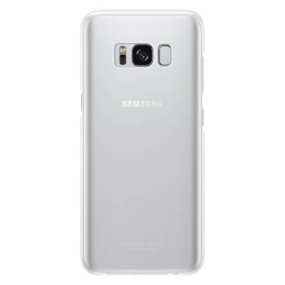 Чехол для смартфона Samsung Galaxy S8 серебристый/прозрачный (EF-QG950CSEGRU) (EF-QG950CSEGRU) клип кейс samsung silicone cover для galaxy s8 зеленый
