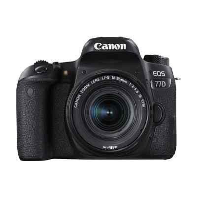 Цифровая фотокамера Canon EOS 77D черный (1892C003) зеркальный фотоаппарат кэнон в эльдорадо