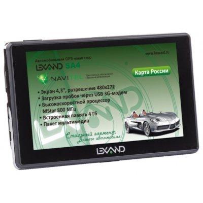 Навигатор GPS Lexand SA4 (SA4) gps навигатор lexand sa5 hd 5 авто 4гб navitel 8 7 с расширенным пакетом картографии черный