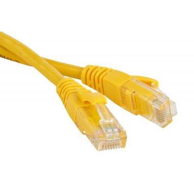 Кабель Patch Cord Lanmaster LAN-45-45-1.0-YL 1.0 м, желтый (LAN-45-45-1.0-YL) кабель patch cord utp 5м категории 5е синий nm13001050bl