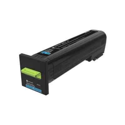 Тонер-картридж для лазерных аппаратов Lexmark голубого цвета для организаций (8000 стр.) для CS820, CX82x, CX860 (72K50CE)Тонер-картриджи для лазерных аппаратов Lexmark<br>Картридж с тонером голубого цвета для организаций (8000 стр.) для CS820, CX82x, CX860<br>