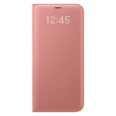 Чехол для смартфона Samsung Galaxy S8+ розовый (EF-NG955PPEGRU) (EF-NG955PPEGRU) чехол клип кейс samsung alcantara cover для samsung galaxy s8 розовый [ef xg950apegru]
