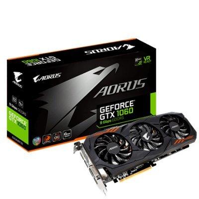 все цены на Видеокарта ПК Gigabyte GV-N1060AORUS-6GD nVidia GeForce GTX 1060 6144Mb 192bit GDDR5 1607/9026 DVIx1/HDMIx1/DPx3/HDCP Ret (GV-N1060AORUS-6GD) онлайн