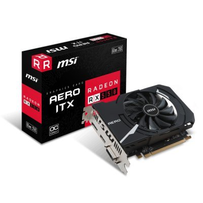 Видеокарта ПК MSI RX 550 AERO ITX 2G OC AMD Radeon RX 550 2048Mb 128bit GDDR5 1203/7000 DVIx1/HDMIx1/DPx1/HDCP Ret (RX 550 AERO ITX 2G OC) видеокарта msi pci e rx 460 2g oc amd radeon rx 460 2048mb 128bit gddr5 1210 7000 dvix1 hdmix1 dpx1 hdcp ret