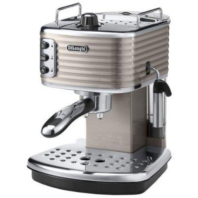 Кофеварка Delonghi Scultura ECZ 351.BG бежевый/серебристый (132103100) кофеварка эспрессо delonghi eci341 white