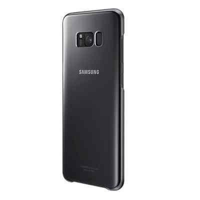 Чехол для смартфона Samsung Galaxy S8+ черный/прозрачный (EF-QG955CBEGRU) (EF-QG955CBEGRU) чехол клип кейс samsung protective standing cover great для samsung galaxy note 8 темно синий [ef rn950cnegru]
