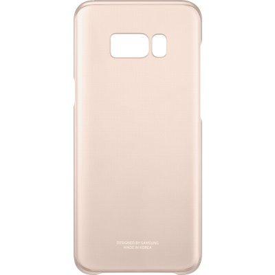Чехол для смартфона Samsung Galaxy S8+ розовый/прозрачный (EF-QG955CPEGRU) (EF-QG955CPEGRU) чехол клип кейс samsung protective standing cover great для samsung galaxy note 8 темно синий [ef rn950cnegru]