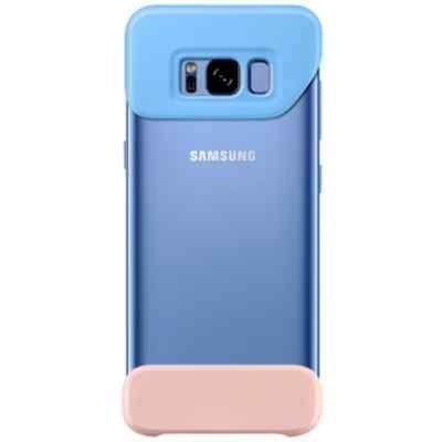 Чехол для смартфона Samsung Galaxy S8 голубой/персиковый (EF-MG950CLEGRU) (EF-MG950CLEGRU) чехол клип кейс samsung protective standing cover great для samsung galaxy note 8 темно синий [ef rn950cnegru]