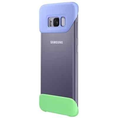 Чехол для смартфона Samsung Galaxy S8 фиолетовый/зеленый (EF-MG950CVEGRU) (EF-MG950CVEGRU) чехол для смартфона samsung galaxy s8 зеленый ef pg955tgegru ef pg955tgegru