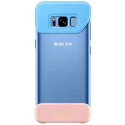 Чехол для смартфона Samsung Galaxy S8+ голубой/персиковый (EF-MG955CLEGRU) (EF-MG955CLEGRU) чехол клип кейс samsung protective standing cover great для samsung galaxy note 8 темно синий [ef rn950cnegru]