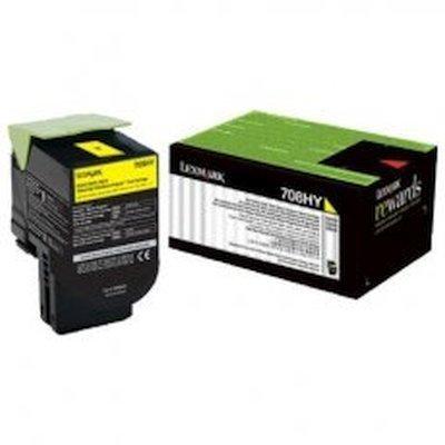 Тонер-картридж для лазерных аппаратов Lexmark Желтый высокой ёмкости, 3K, для CS310, CS410, CS510 (70C8HYE) тонер картридж для лазерных аппаратов lexmark желтый высокой ёмкости 3k для cs310 cs410 cs510 70c8hye