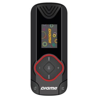 Цифровой плеер Digma R3 8Gb черный (R3BK) портативный медиаплеер digma b3 синий