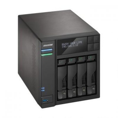Рэковое сетевое хранилище (Rack NAS) Asustor AS6204T (90IX00J1-BW3S10) (90IX00J1-BW3S10)Рэковые сетевые хранилища (Rack NAS) Asustor<br>Asustor AS6204T, 4-Bay NAS, Intel Celeron Quad-Core, 4GB SO-DIMM DDR3L, GbE x 2, USB 3.0 &amp;amp; eSATA, WoL, System Sleep Mode, AES-NI hardware encryption,with lockable tray<br>