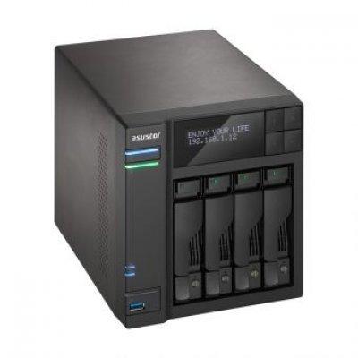 Рэковое сетевое хранилище (Rack NAS) Asustor AS6204T (90IX00J1-BW3S10) (90IX00J1-BW3S10)Рэковые сетевые хранилища (Rack NAS) Asustor<br>Asustor AS6204T, 4-Bay NAS, Intel Celeron Quad-Core, 4GB SO-DIMM DDR3L, GbE x 2, USB 3.0 &amp;amp; eSATA, WoL, System Sleep Mode, AES-NI hardware encryption,with lockable tray<br>