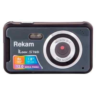 Цифровая фотокамера Rekam iLook S760i темно-серый (1108005126) цифровая фотокамера rekam ilook s955i ilook s955i