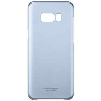 Чехол для смартфона Samsung Galaxy S8 голубой/прозрачный (EF-QG950CLEGRU) (EF-QG950CLEGRU) клип кейс samsung silicone cover для galaxy s8 зеленый