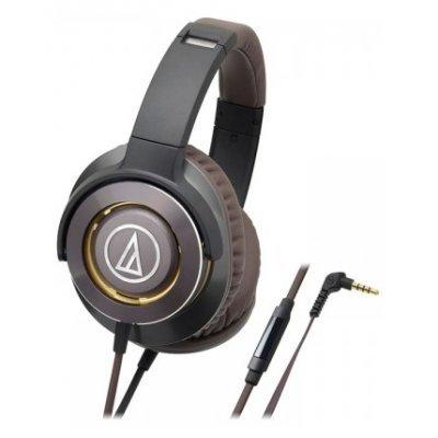 Наушники Audio-Technica ATH-WS770iS черный/коричневый (10102359) audio technica ath a550z полноразмерные наушники matte black