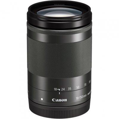 Объектив для фотоаппарата Canon EF-M IS STM (1375C005) 18-150мм f/3.5-6.3 черный (1375C005) canon canon eos m100 белый миниатюрный одиночный комплект ef m 15 45mm f 3 5 6 3 is stm объектив