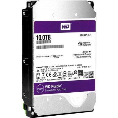 Жесткий диск серверный Western Digital WD100PURZ 10Tb (WD100PURZ) жесткий диск пк western digital wds250g2b0a 250gb wds250g2b0a