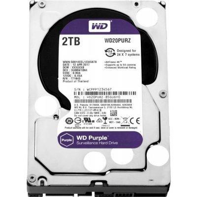 Жесткий диск серверный Western Digital WD20PURZ 2Tb (WD20PURZ) жесткий диск 4tb western digital purple wd40purx