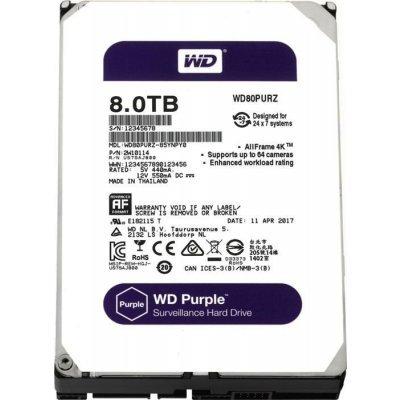 Жесткий диск серверный Western Digital WD80PURZ 8Tb (WD80PURZ) жесткий диск пк western digital wds250g2b0a 250gb wds250g2b0a
