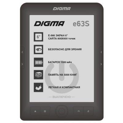 Электронная книга Digma E63S темно-серый (E63SDG) цветная электронная книга