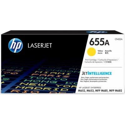 Тонер-картридж для лазерных аппаратов HP 655A для CLJ M652/ M653, MFP M681/ M682 (10 500 стр.), желтый (CF452A)Тонер-картриджи для лазерных аппаратов HP<br>Cartridge HP 655A для HP CLJ M652/ M653, MFP M681/ M682 (10 500 стр.), желтый<br>