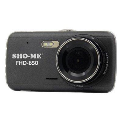 Видеорегистратор Sho-Me FHD-650 черный (FHD-650) видеорегистратор mystery mdr 840hd 1 5 1920x1080 5mp 120° microsd microsdhc hdmi