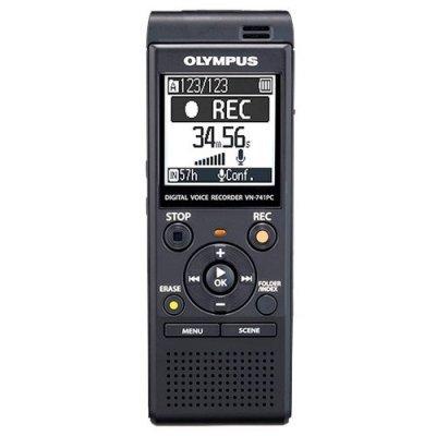 Цифровой диктофон Olympus VN-741PC 4Gb черный (VN-741PC) цифровой диктофон olympus ws 806 ws 806