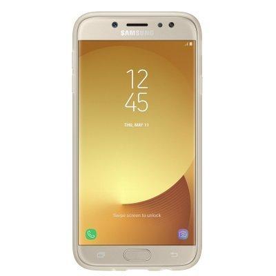 Чехол для смартфона Samsung Galaxy J7 (2017) золотистый (EF-AJ730TFEGRU) (EF-AJ730TFEGRU) чехол клип кейс samsung protective standing cover great для samsung galaxy note 8 темно синий [ef rn950cnegru]