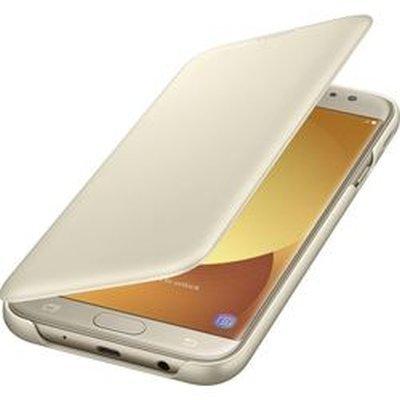 Чехол для смартфона Samsung Galaxy J7 (2017) золотистый (EF-WJ730CFEGRU) (EF-WJ730CFEGRU) чехол для смартфона samsung galaxy j7 2017 черный ef aj730tbegru ef aj730tbegru