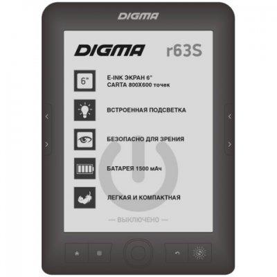 Электронная книга Digma R63S темно-серый (R63SDG) цветная электронная книга