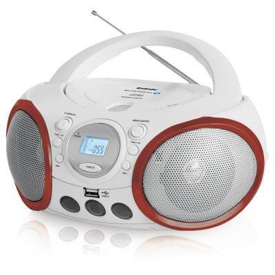 Аудиомагнитола BBK BX150BT белый/красный (CD MP3 магнитола BBK BX150BT белый/красный)Аудиомагнитолы BBK<br>Аудиомагнитола BBK BX150BT белый/красный<br>