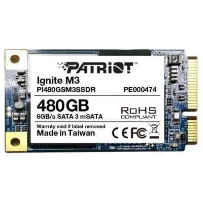 Накопитель SSD Patriot PI480GSM3SSDR 480GB (PI480GSM3SSDR) накопитель ssd patriot pi480gsm280ssdr pi480gsm280ssdr