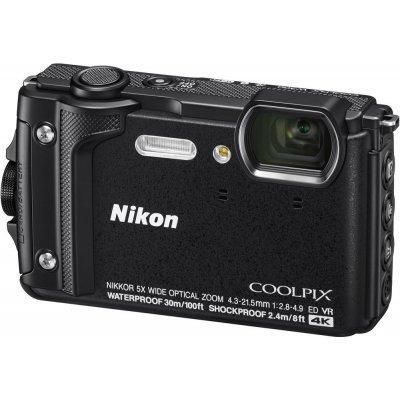 Цифровая фотокамера Nikon Coolpix W300 черный (VQA070E1) профессиональная цифровая slr камера nikon d3200 18 55mmvr