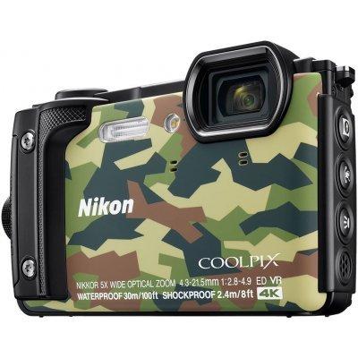 Цифровая фотокамера Nikon Coolpix W300 серый (VQA073E1) профессиональная цифровая slr камера nikon d3200 18 55mmvr