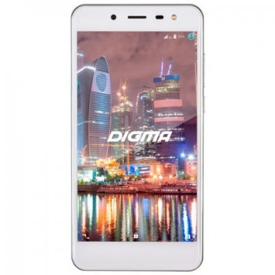 Смартфон Digma Vox Flash 4G 8Gb белый (VS5015ML black) смартфон fly fs512 nimbus 10 4g lte 8gb black