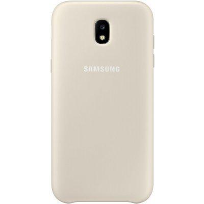 Чехол для смартфона Samsung Galaxy J3 (2017) Dual Layer Cover золотистый (EF-PJ330CFEGRU) (EF-PJ330CFEGRU) чехол клип кейс samsung protective standing cover great для samsung galaxy note 8 темно синий [ef rn950cnegru]