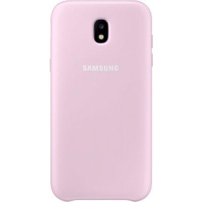 Чехол для смартфона Samsung Galaxy J3 (2017) Dual Layer Cover розовый (EF-PJ330CPEGRU) (EF-PJ330CPEGRU) чехол клип кейс samsung alcantara cover для samsung galaxy s8 розовый [ef xg950apegru]