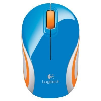 Мышь Logitech Wireless Mini Mouse M187 Blue-Orange USB (910-002733) (910-002733) мышь logitech wireless mini mouse m187 blue 910 002738