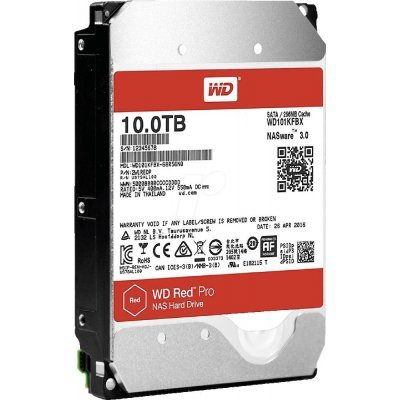 Жесткий диск ПК Western Digital 10Tb SATA-III WD101KFBX Red Pro (7200rpm) (WD101KFBX) жесткий диск пк western digital wds250g2b0a 250gb wds250g2b0a